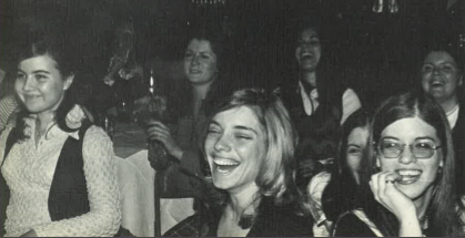 Students watch Sing Song in 1973.
