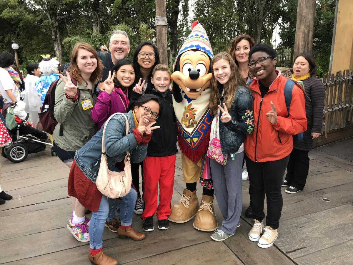 students at disney japan