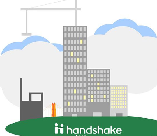 Handshake sketch graphic