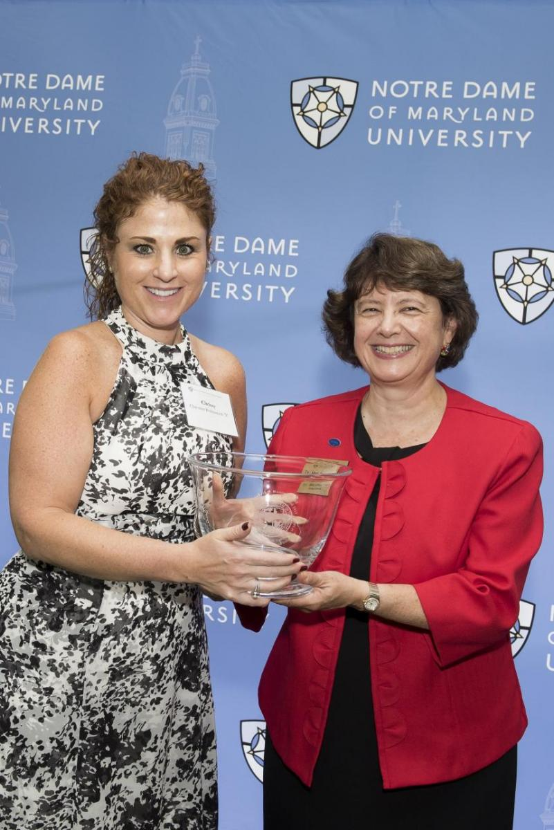 Chrissy Bolmarcich receives the Distinguished Alumna Award 2017