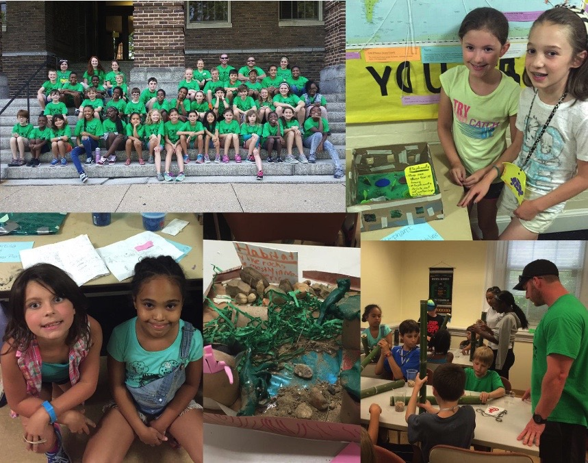 collage of STEM camp 2016 photos