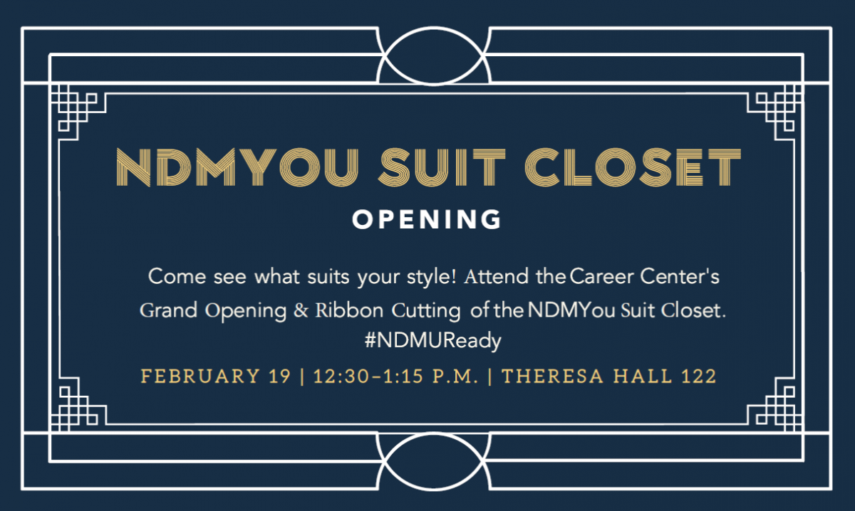 NDMYou Suit Closet is opening on February 19 at 12:30 p.m.