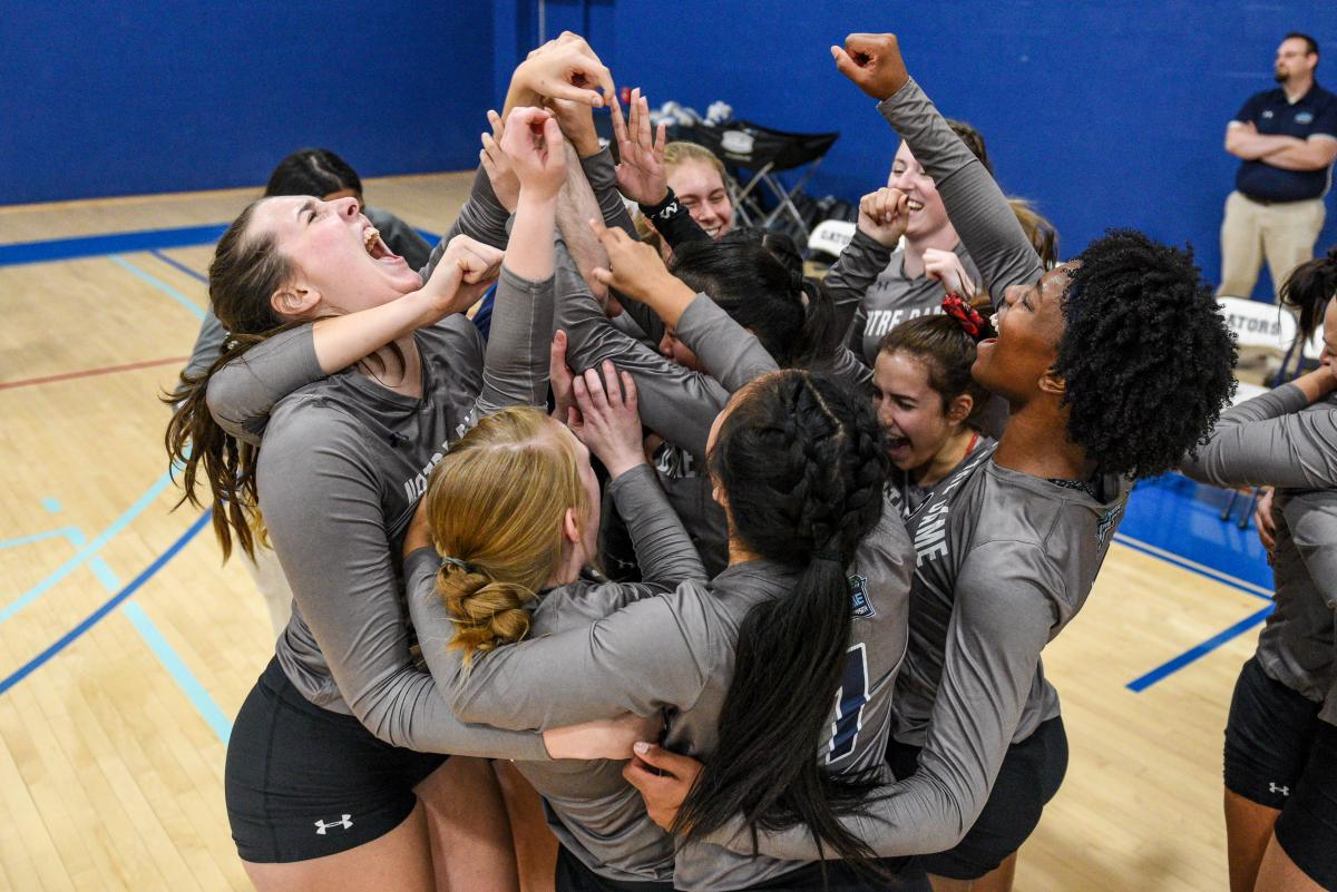 Volleyball Celebrates win