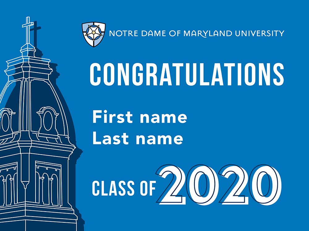 NDMU graduations lawn sign template