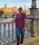 Angelie Singh at the plaza de espana sevilla