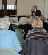 William Zorzi speaks to a Renaissance Institute class