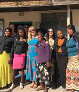 Group photo of ELI team with Zambia school team