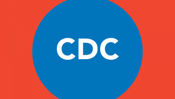 Red box with blue CDC icon