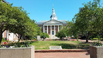 Maryland statehouse in Annapolis