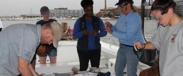 Life of Chesapeake class gathers samples