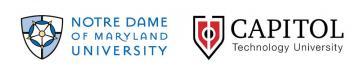 capitol and ndmu logos