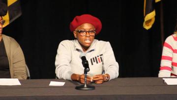 Corshai Williams speaks at NDMU