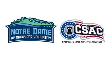 NDMU athletics and colonial states athletic conference logos
