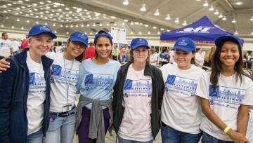 Group of student volunteers