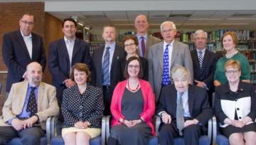 Group photo of university administrators