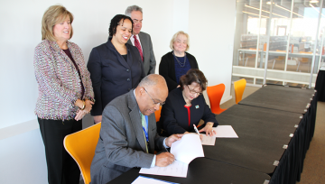 NDMU & University of Baltimore leaders sign agreement