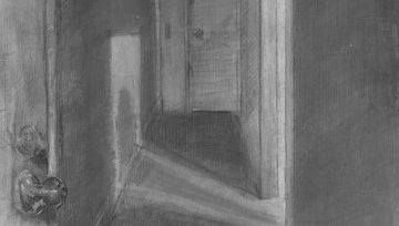 Drawing of a hallway