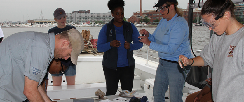 Life of Chesapeake class gathers samples