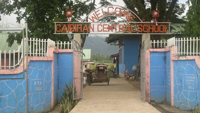 Entrance to Caibiran Central School