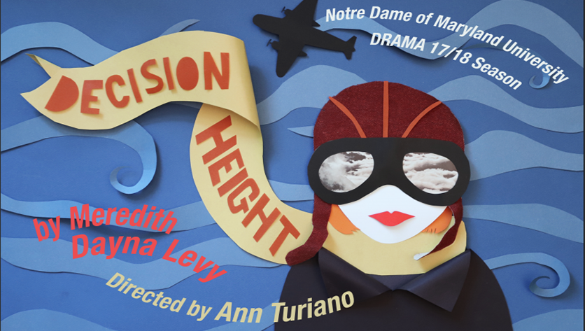 Decision Height lady flier poster