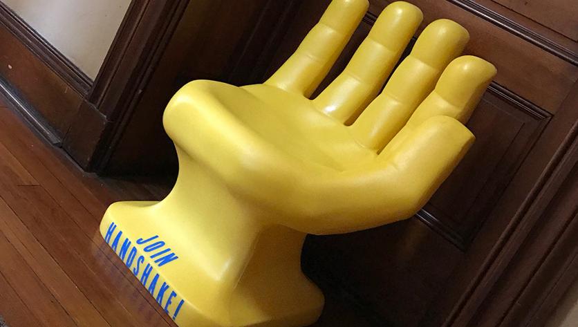 Yellow Handshake Chair