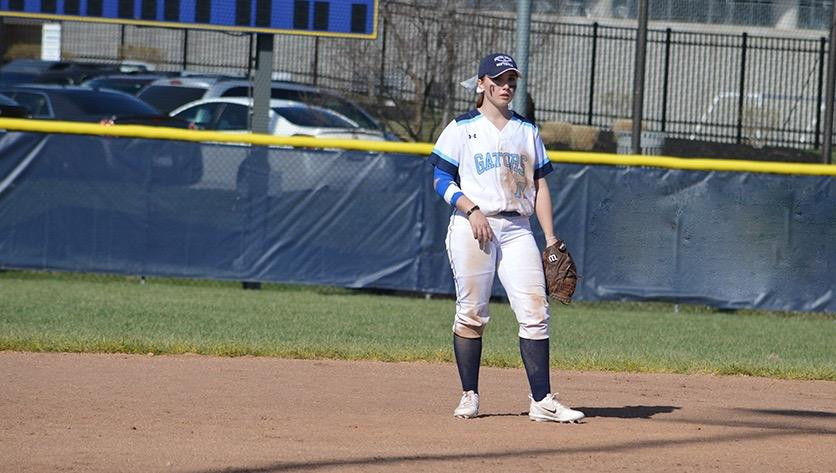 Kastner on Softball field