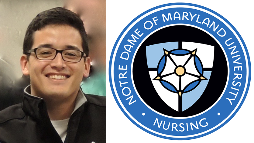 Zakk headshot with School of Nursing seal