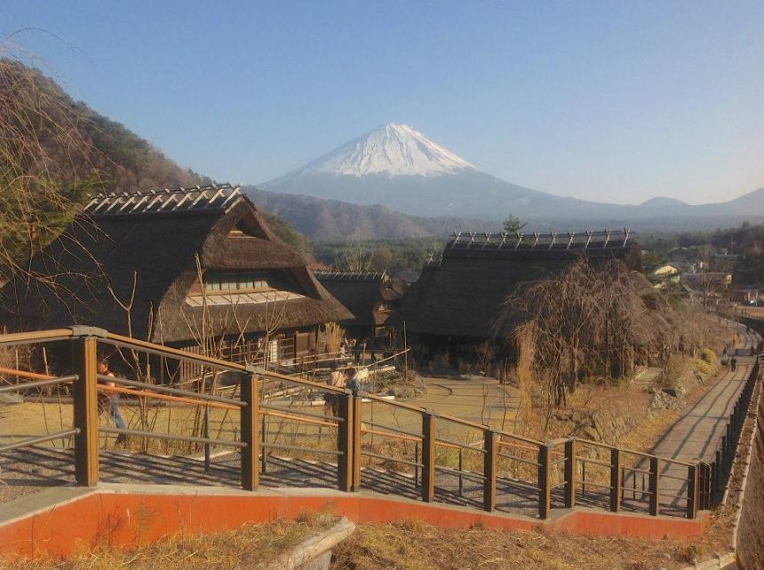 A beautiful mountain view in Japan