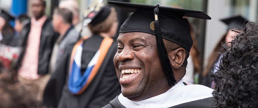 Close up of a smiling graduate