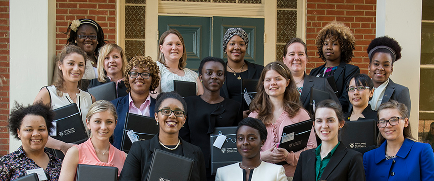 Group photo of women dressed professionally