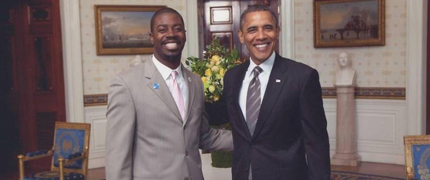 Maryland Teacher of the Year Joshua Parker meets President Obama